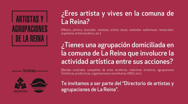 Directorio de artistas y agrupaciones de La Reina