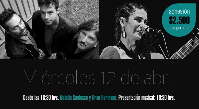1era jornada 'Bandas de La Reina – After Office', con Natalia Contesse y Gran Hermano.  Miércoles 12 de abril, desde las 18:30 hrs.