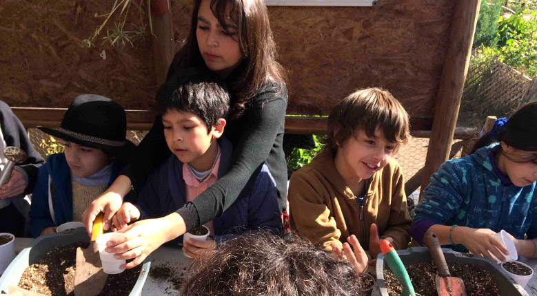 Galería: Visita de Colegio Alexander a las Huertas Urbanas de La Reina (2017.06)