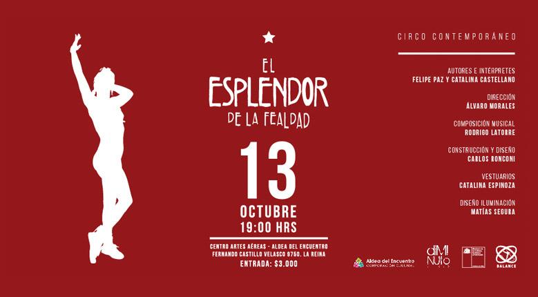 EL ESPLENDOR DE LA FEALDAD – Sábado 13 de octubre
