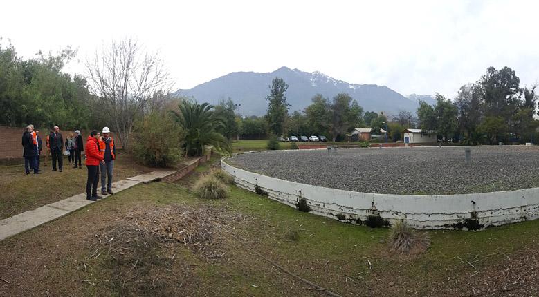 Visita de Aguas Andinas a la Aldea